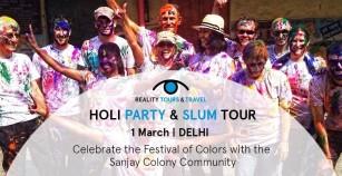 Holi with a heart: Holi Party and Sanjay Colony Slum Tour